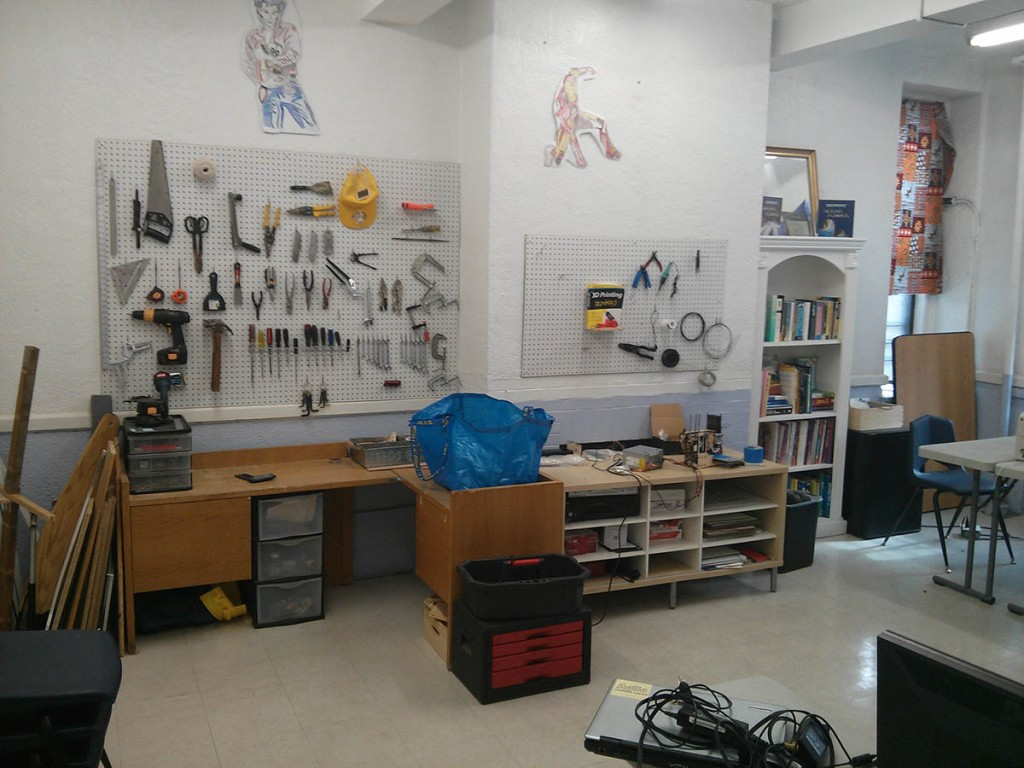 Maker space at ALC New York, I ended up visiting there for a few days!