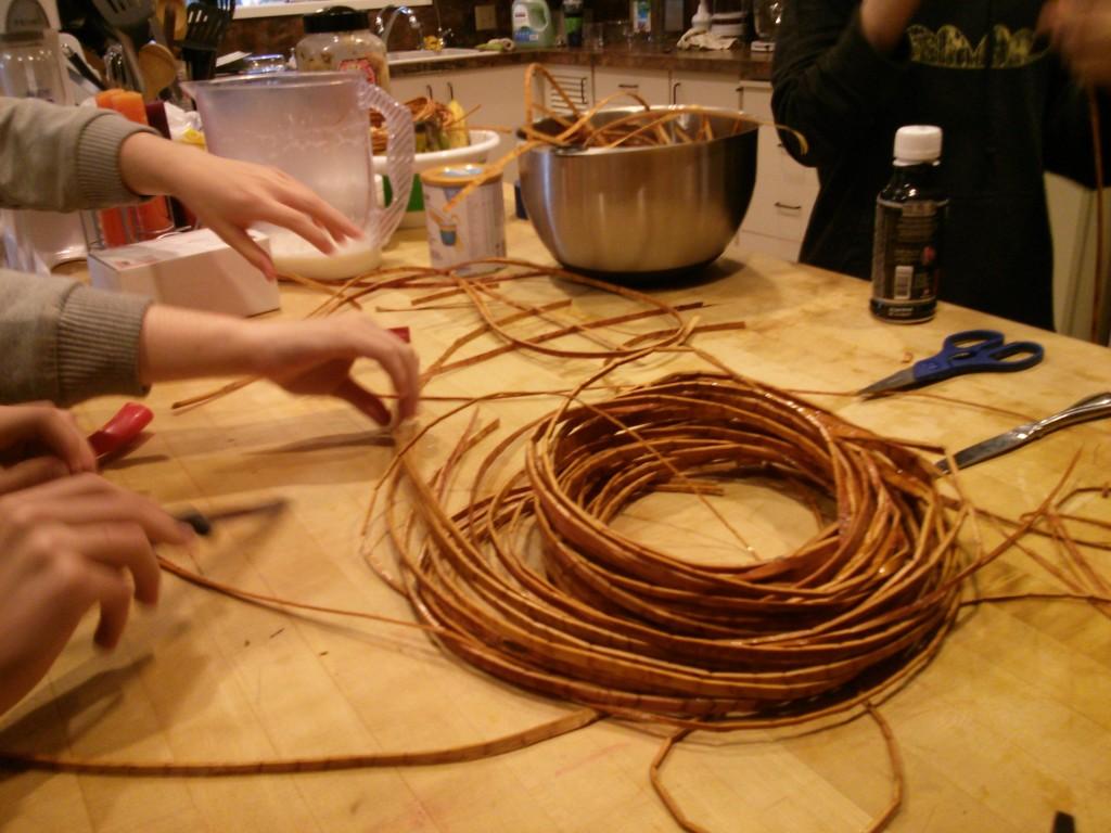 Cedar Bark weaving