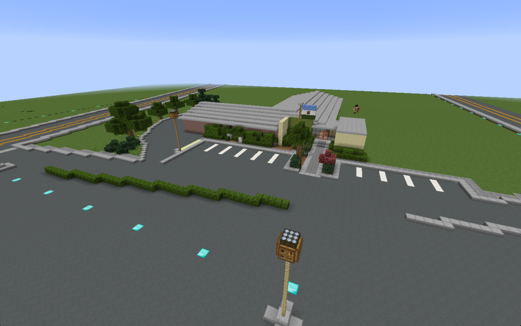 The Glacier Commons Minecraft map we all made together.
