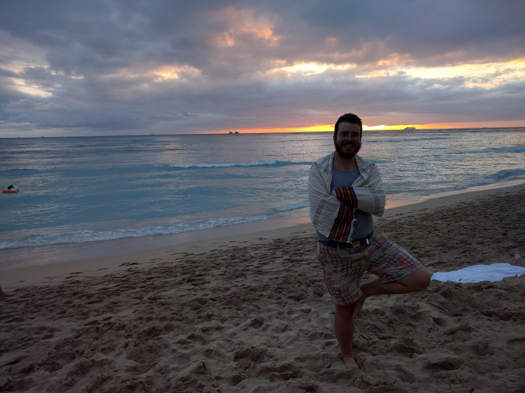 Getting ready for Yoga at sunset!