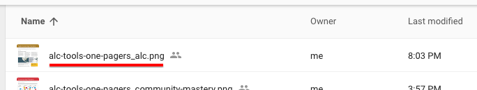 google drive file name