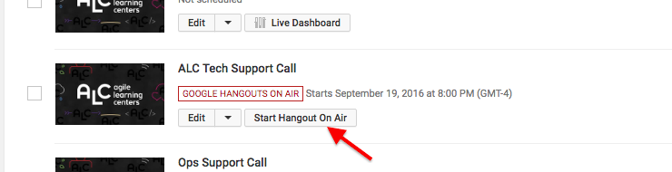 youtube live setup tutorial - hangout on air controls