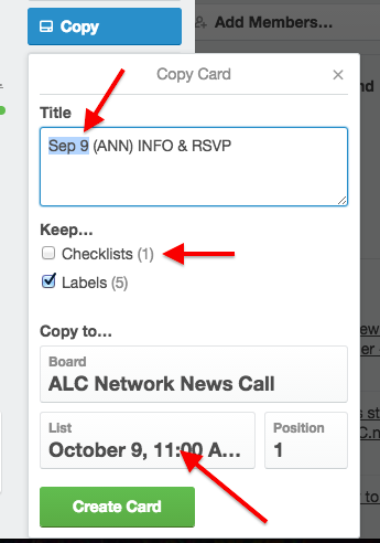 network call tutorial copy trello card dialog